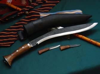 13 Inch Panawal Black Wooden Handle Kukri