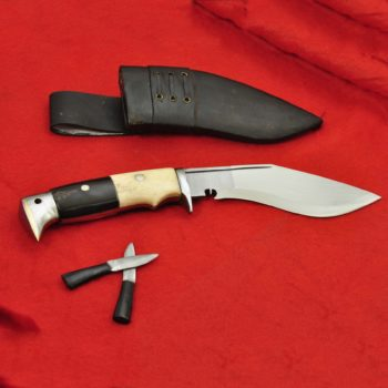 6 Inch Hand Forged Blade American Eagle Bone and Horn Handle Khukuri