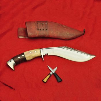8 Inch Dragon Eagle khukuri Bone and Wood Handle