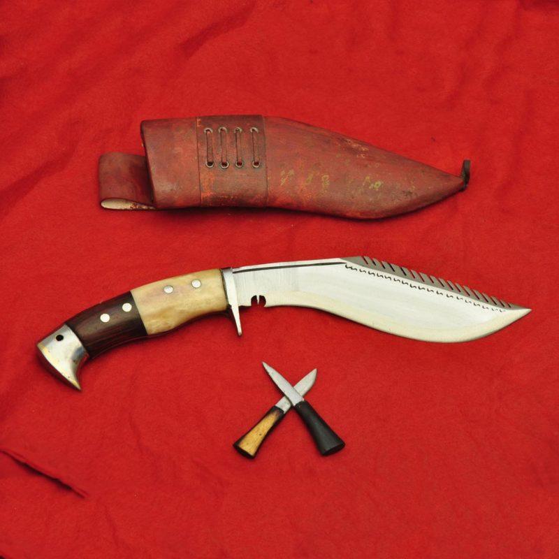 8 Inch Dragon Eagle khukuri Bone and Wood Handle
