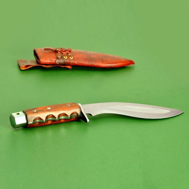 6 Inch Hand Forged Hunting Gripper Blocker Handle Kukuri
