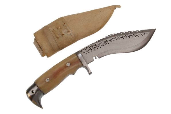 6 Inch American Eagle Bone Handle Dragon Khukri